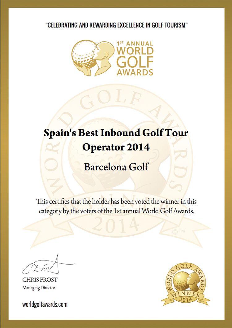 World Golf Awards 2014